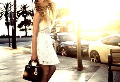 Beautiful Woman in the Sun