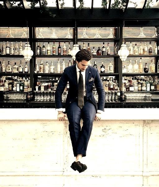 Restaurant, Bar, Modern Man, Elegant Men, Drinking